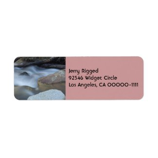 Silky Water 2 Address Label label