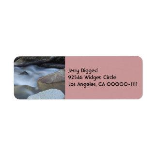 Silky Water 2  Address Label