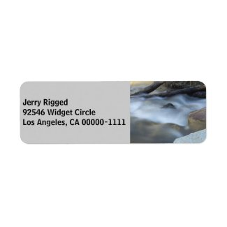 Silky Water 2 Grey Address Label label