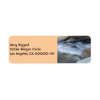 Silky Water 2 Tan Address Label