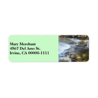 Silky Water 4 Green Address Label label