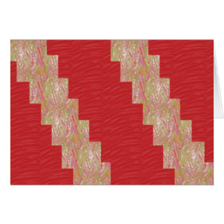 SILKY Waves n Elegant Red Fabric Print - LOW PRICE Card