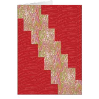SILKY Waves n Elegant Red Fabric Print - LOW PRICE Card