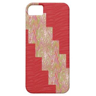 SILKY Waves n Elegant Red Fabric Print - LOW PRICE iPhone SE/5/5s Case