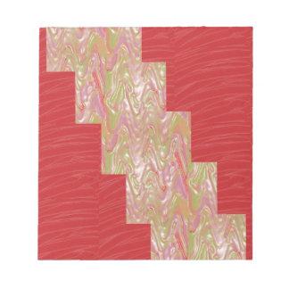SILKY Waves n Elegant Red Fabric Print - LOW PRICE Memo Note Pads
