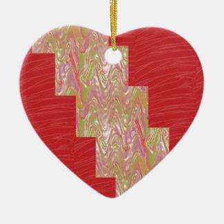 SILKY Waves n Elegant Red Fabric Print - LOW PRICE Christmas Tree Ornaments