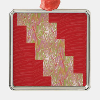 SILKY Waves n Elegant Red Fabric Print - LOW PRICE Ornaments