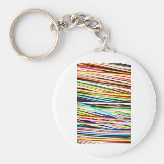 Silky Waves Shine Digital Bright  Pink Rusty Antiq Basic Round Button Keychain