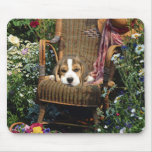 Silla de jardín de Mousepad del beagle Alfombrillas De Ratones