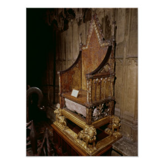 Silla de la coronación hecha para Edward I por 'Wa Póster
