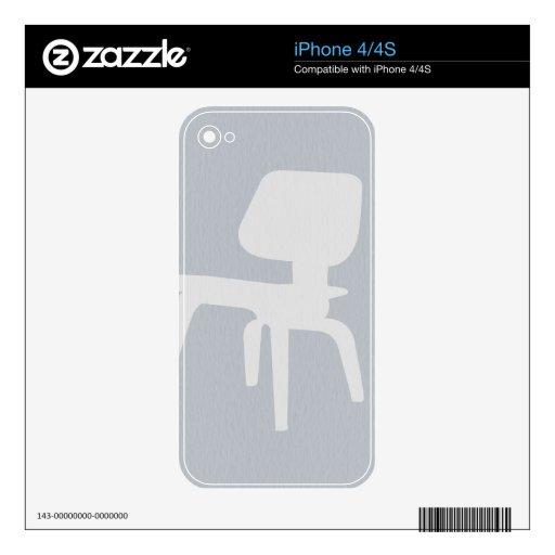 Silla de la madera contrachapada de Eames Skins Para eliPhone 4S