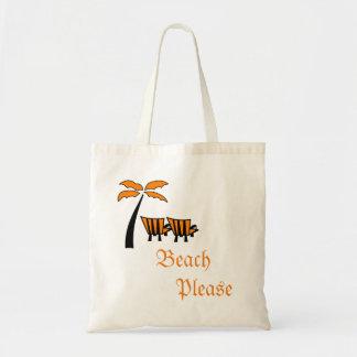 Silla de la palmera de la playa bolsa tela barata