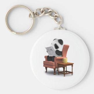 silla de la panda del bebé 3d llavero personalizado