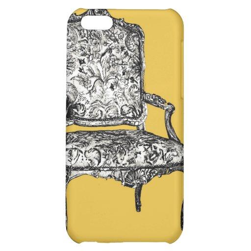 Silla de la regencia en amarillo de la mostaza