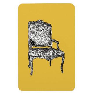 Silla de la regencia en amarillo de la mostaza imanes flexibles