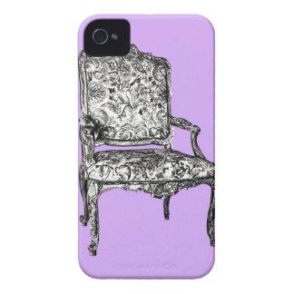 Silla de la regencia en lavanda iPhone 4 Case-Mate cárcasas