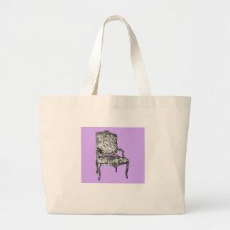 Silla de la regencia en lila bolsa tela grande