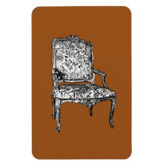 Silla de la regencia en marrón iman rectangular