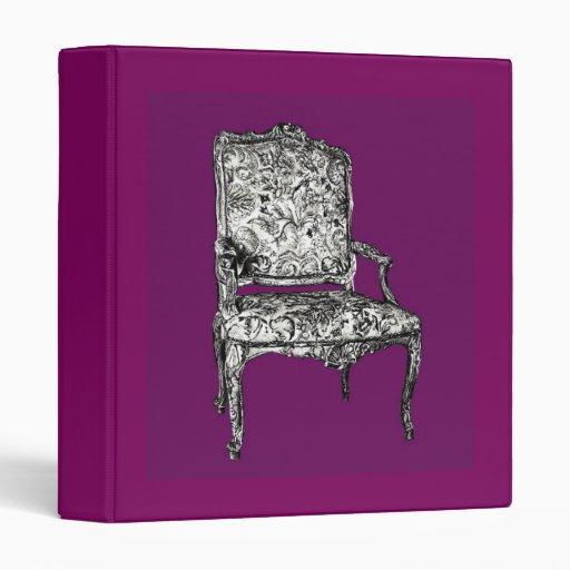 """Silla de la regencia en púrpura carpeta 1"""""""