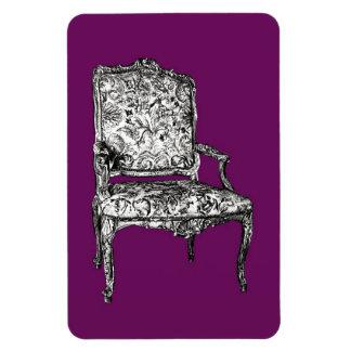 Silla de la regencia en púrpura imanes de vinilo