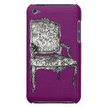 Silla de la regencia en púrpura iPod touch fundas