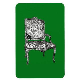 Silla de la regencia en verde imanes de vinilo