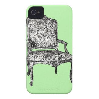 Silla de la regencia en verde lima iPhone 4 Case-Mate protectores