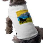 Silla de las montañas del lago de la pesca del pes ropa de perros