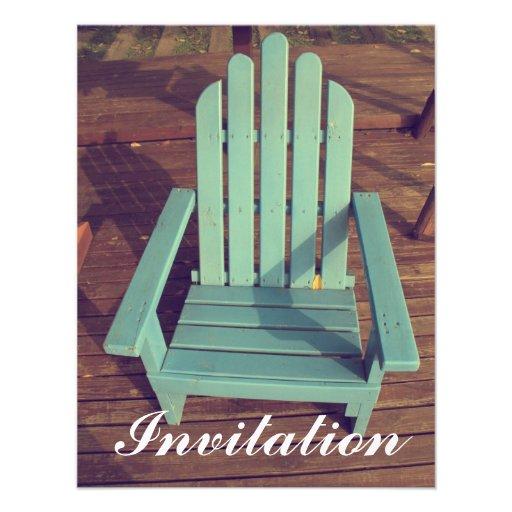 Silla de madera retra invitación