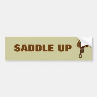 Silla de montar del caballo pegatina de parachoque