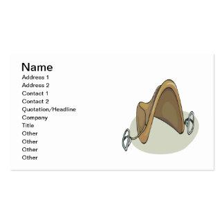Silla de montar del caballo tarjetas de visita