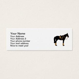 Silla de montar del caballo tarjetas de visita mini