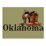 Silla de montar y botas de Oklahoma Postal