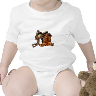 Silla de montar y botas traje de bebé