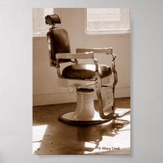 Silla de peluquero antigua poster