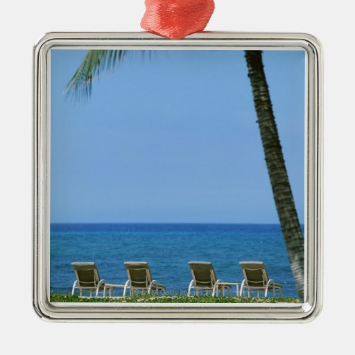 Silla de playa 3 adorno cuadrado plateado