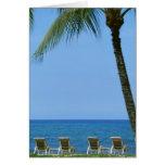 Silla de playa 3 tarjeta de felicitación