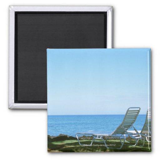 Silla de playa 4 iman de frigorífico