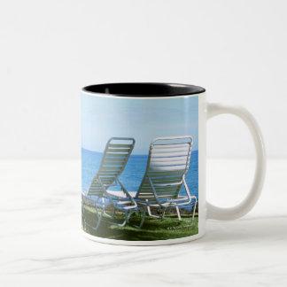 Silla de playa 4 taza de dos tonos