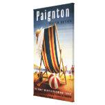 Silla de playa de los ferrocarriles y poster britá impresiones en lienzo estiradas