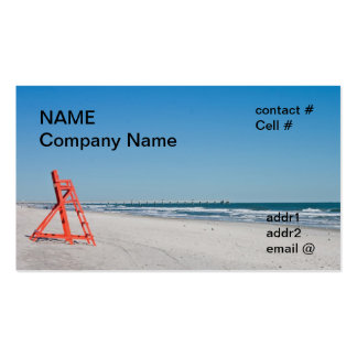 silla de playa del salvavidas tarjetas de visita