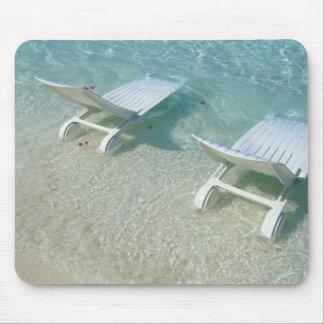 Silla de playa mouse pads