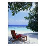 Silla de playa tarjeta de felicitación