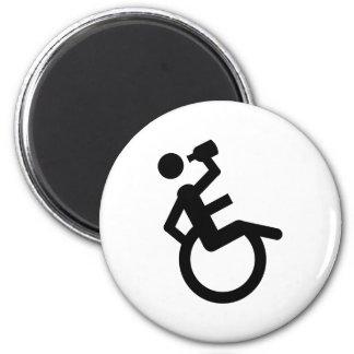 silla de rueda del boozer de la silla de ruedas imán redondo 5 cm