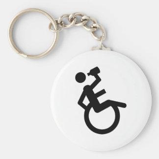 silla de rueda del boozer de la silla de ruedas llavero redondo tipo pin