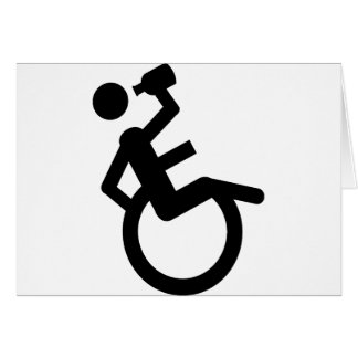 silla de rueda del boozer de la silla de ruedas tarjeta de felicitación