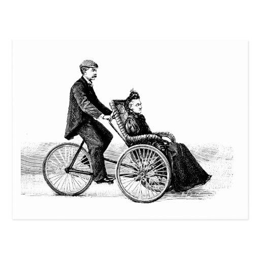 Silla de ruedas de la bicicleta - bicicletas del V Postales