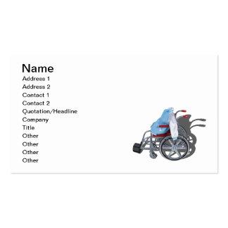 Silla de ruedas de la chaqueta del ganador de una  tarjetas de negocios