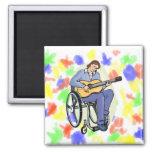 silla de ruedas graphic.png del guitarrista imán de frigorífico