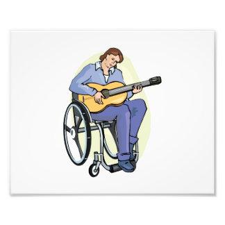 silla de ruedas graphic.png del guitarrista arte fotografico